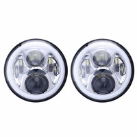 ISincer 7 Inch Round RGB Led Headlight For Jeep For Hummer Halo Angel Eye DRL Headlamp