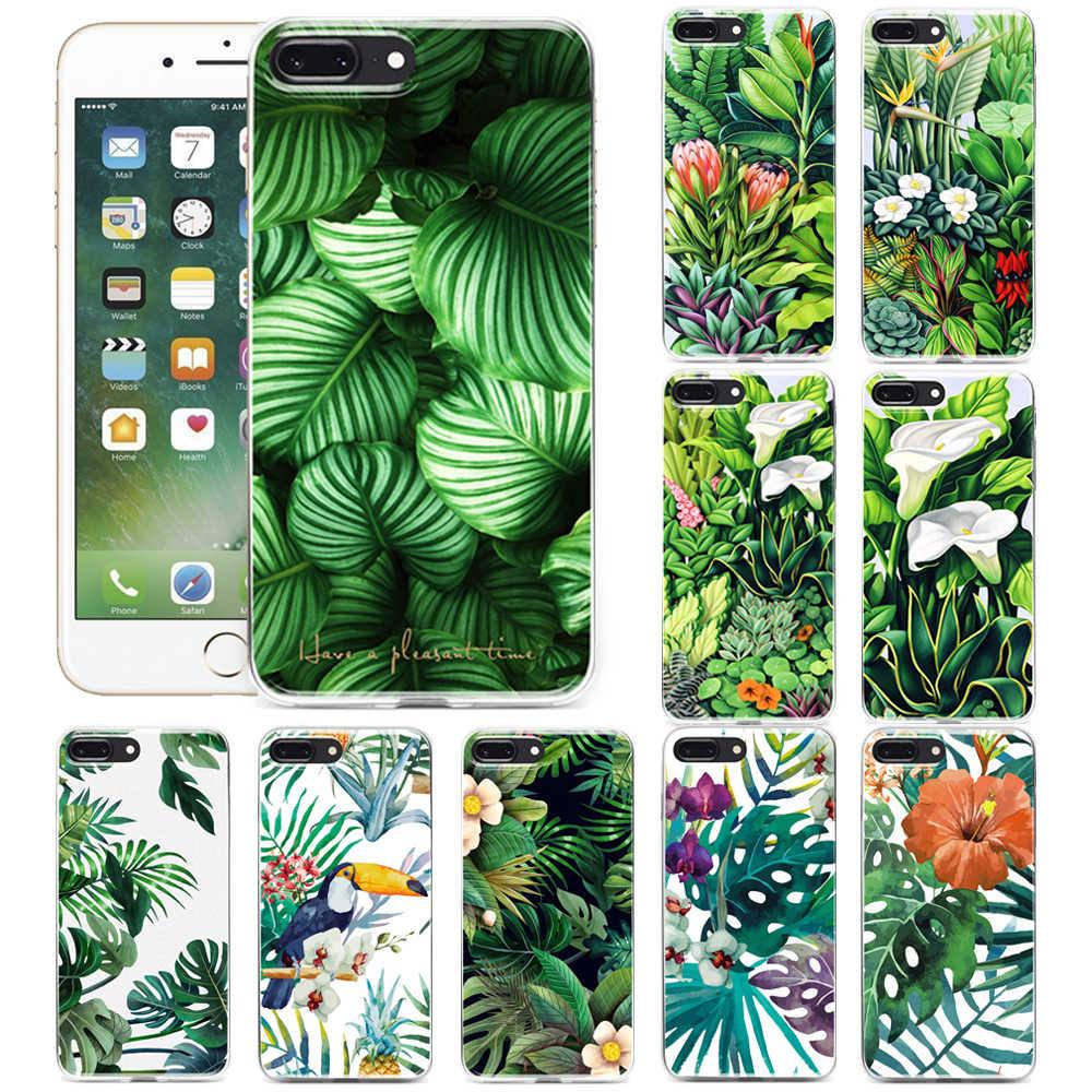 Vert Jungle tropicale Feuilles Toucan Oiseau Fleur Imprimé COQUE ...