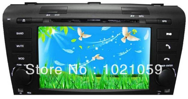 Livraison gratuite lecteur dvd gps de voiture pour vieille Mazda 3 2003-2009 avec GPS/IPOD/Bluetooth