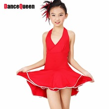 2017 New Nagle Latin Dance Dress For Girls Latin Dance Leotard Set Child Latin Dance Clothes Latin Dance Skirt Female Child