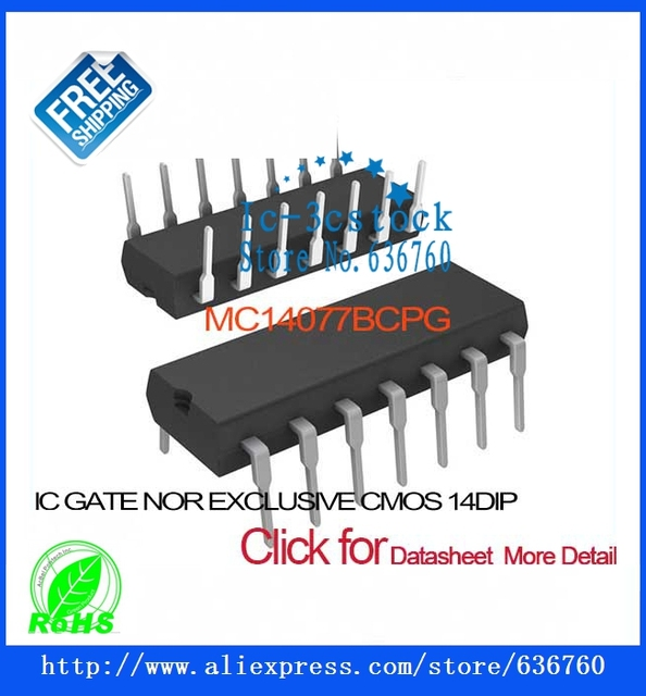 MC14077BCPG IC GATE NOR EXCLUSIVE CMOS 14DIP MC14077BCPG 14077 MC14077  MC14077B MC14077BC 14077B-in Integrated Circuits from Electronic Components  &
