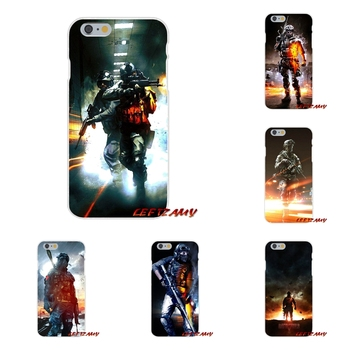 Battlefield game 3 Slim Silicone phone Case For Samsung Galaxy S3 S4 S5 MINI S6 S7 edge S8 S9 Plus Note 2 3 4 5 8 earrings