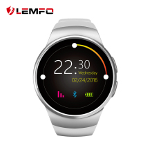 2017 New KW18 Smart Watch Digital smartwatch Bluetooth Inteligente SIM Round Heart Rate Monitor Clock Full IPS Screen