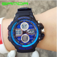 SANDA Brand Backlights Sport Watch Men Chronograph Military Watch Waterproof Swim Diving Clock For Men Relogio
