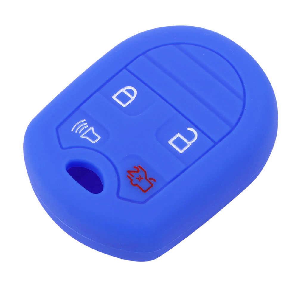 LEEPEE авто аксессуары силиконовые 4 кнопочный ключ автомобиля чехол для Ford Focus Taurus Escape Explorer край Mustang брелок для ключей с кожаной крышкой