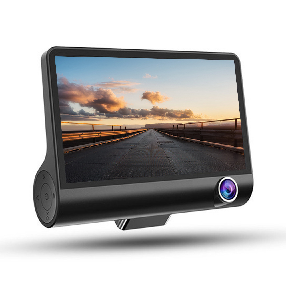 4-inch 3-lens Car Dash Camera High Definition Video Recorder With Night Vision