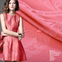 Silk linen satin jacquard fabric 130cm*135cm /piece
