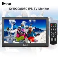 Eyoyo 12 inch 1920x1080 IPS LCD Screen Display HDMI TV Monitor, Portable Kitchen TV with HDMI/VGA/AV/USB Input & Remote Control