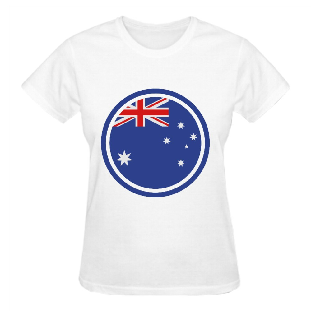 Design t shirt online australia - Rttmall Casual Summer Woman Birthday T Shirt 2017 Camiseta Top Designer Short Sleeve Cotton Australia Flag