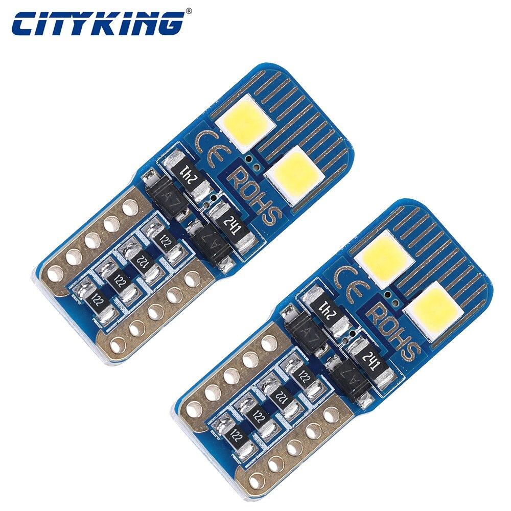 10 шт. T10 W5W светодиодный 3030 smd 4 светодиодный 194 168 Canbus безошибочный светодиодный лампочка для внутренней двери автомобиля, лампы для чтения, па...