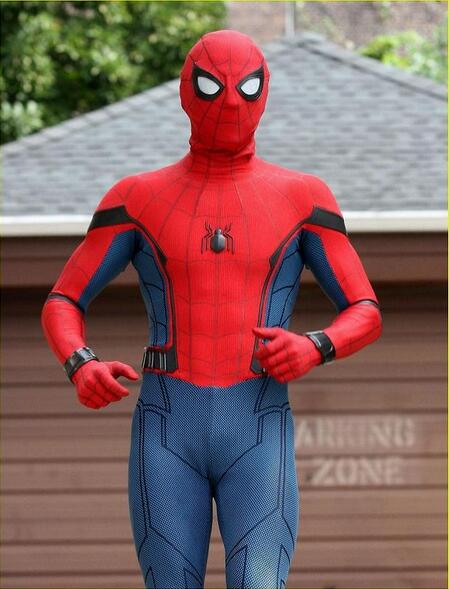 Spider-Man Cosplay Costume 3D Printed Spiderman Spandex Homecoming Spiderman S-2XL