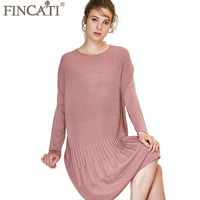 Women Dress 2017 Autumn Winter England Style High Grade Pure Cashmere Wool Fluffy Striped Knit Pleated