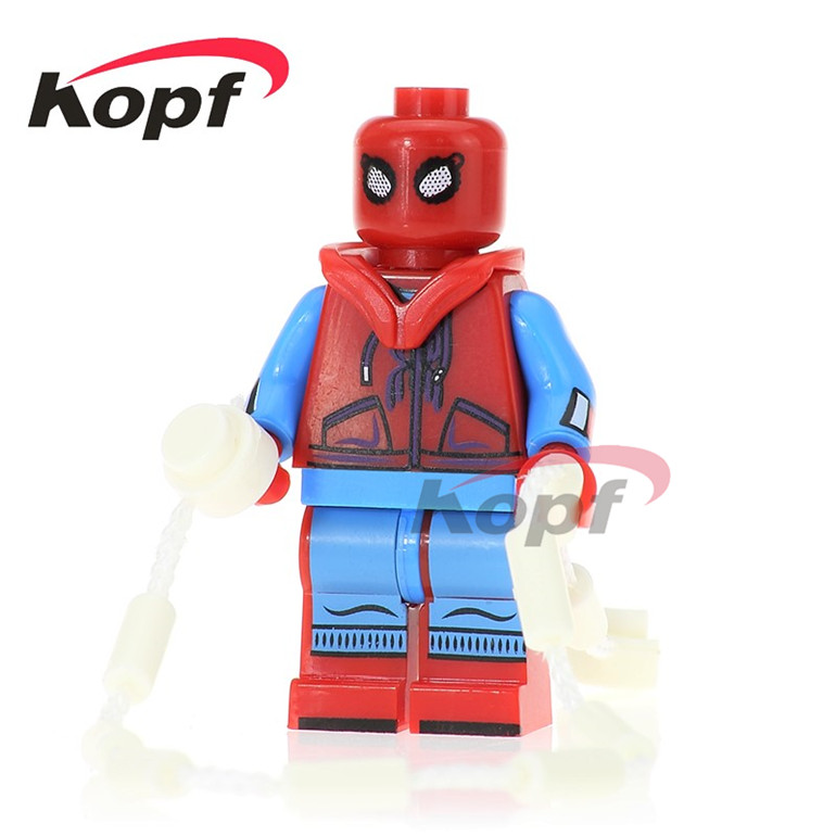 20Pcs Building Blocks Super Heroes Homecoming Spider-Man Spiderman Ghost Rider Iker Casillas Daredevil Children Gift Toys PG260