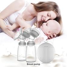 Автоматический свободный Электрический двойной Молокоотсос ручной молокоотсос всасывающий молокоотсос для кормления ребенка мощный молокоотсос