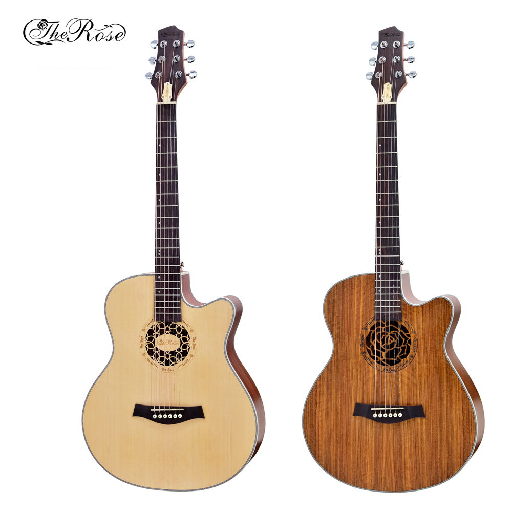 the rose guitar 40 inch acoustic guitar walnut material matte professional practice high quality. Black Bedroom Furniture Sets. Home Design Ideas