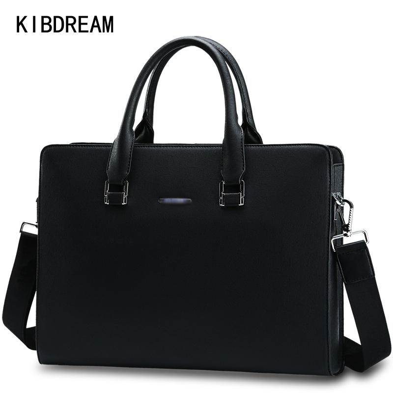 KIBDREAM Men Black Bag Male Messenger Shoulder Bag Business Laptop Satchel Men's Briefcase Handbag Large Shoulder Bags Book Tote vktery handbag men satchel pu leather male messenger crossbody bag business solid brown tote briefcase sling shoulder bags 3021