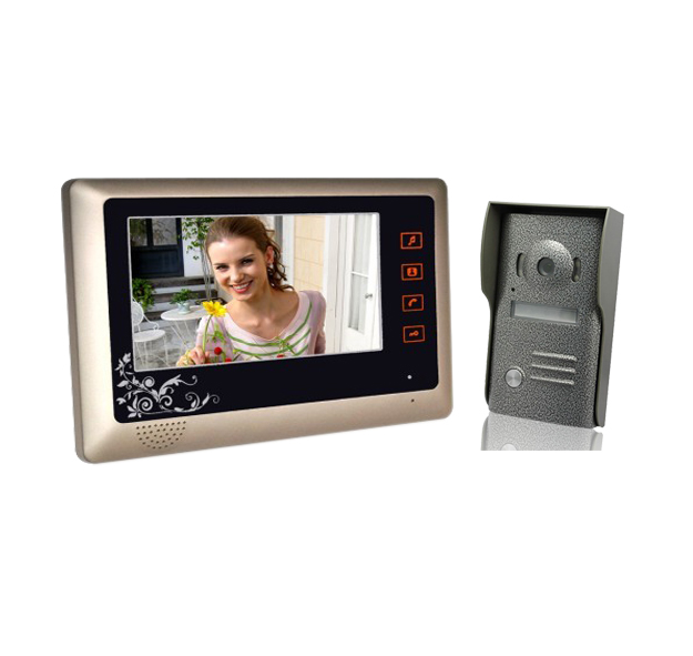 Video Door Phone 7 Inch LCD Color Doorbell Intercom Entry System Kit Unlock Night Vision Monitor and Rainproof IR Camera