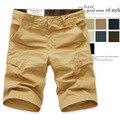 2017 hombres de Los Hombres cortos de verano nueva gran tamaño multi-bolsillo de los guardapolvos al por mayor de moda suelta, casual hombres pantalones cortos de ejercicio
