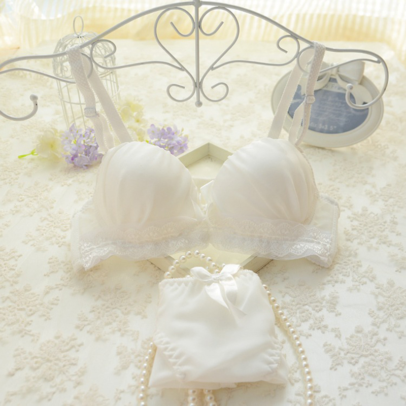 Fashion Women Girl Bra&Brief Sets Underwear Lace Spring Summer Breathable Solid Underwear Girl Bra&Brief Sets Women's Intimates