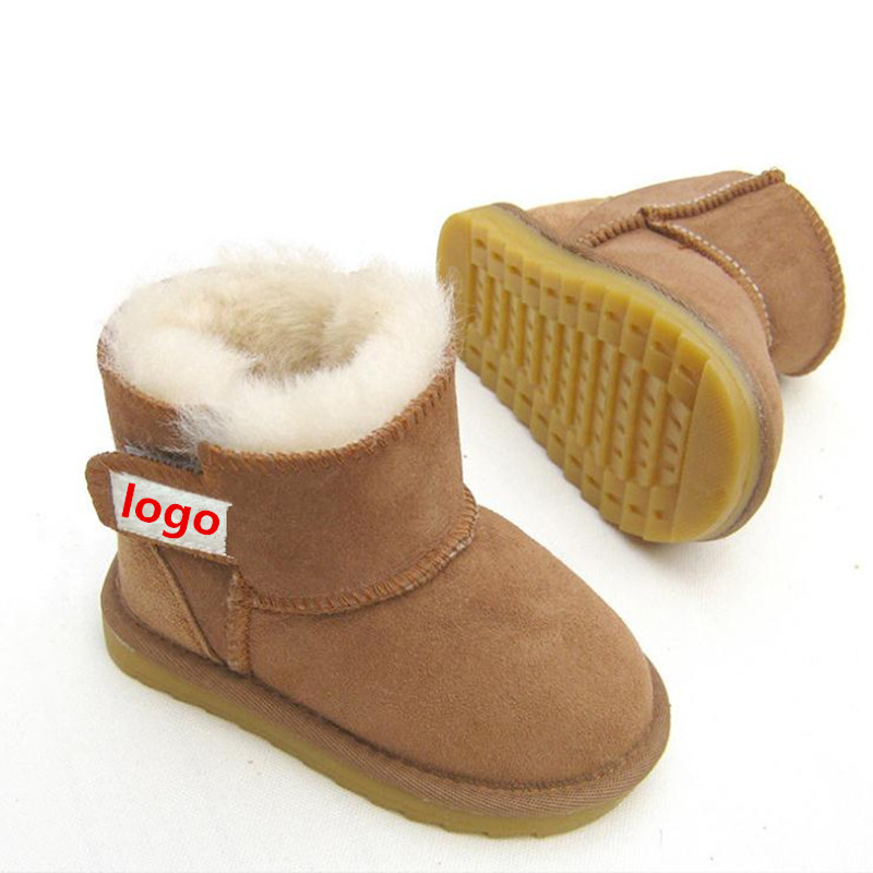 2017 Brand  Baby Boots Winter Sheep Skin Leather and Fur Baby Shoes Waterproof Infant Newborn Leather Boots Girls Boys Shoes baby boots winter boy snow boots brand newborn leather baby boots for girl baby shoes infant kid shoes first walkers moccasins