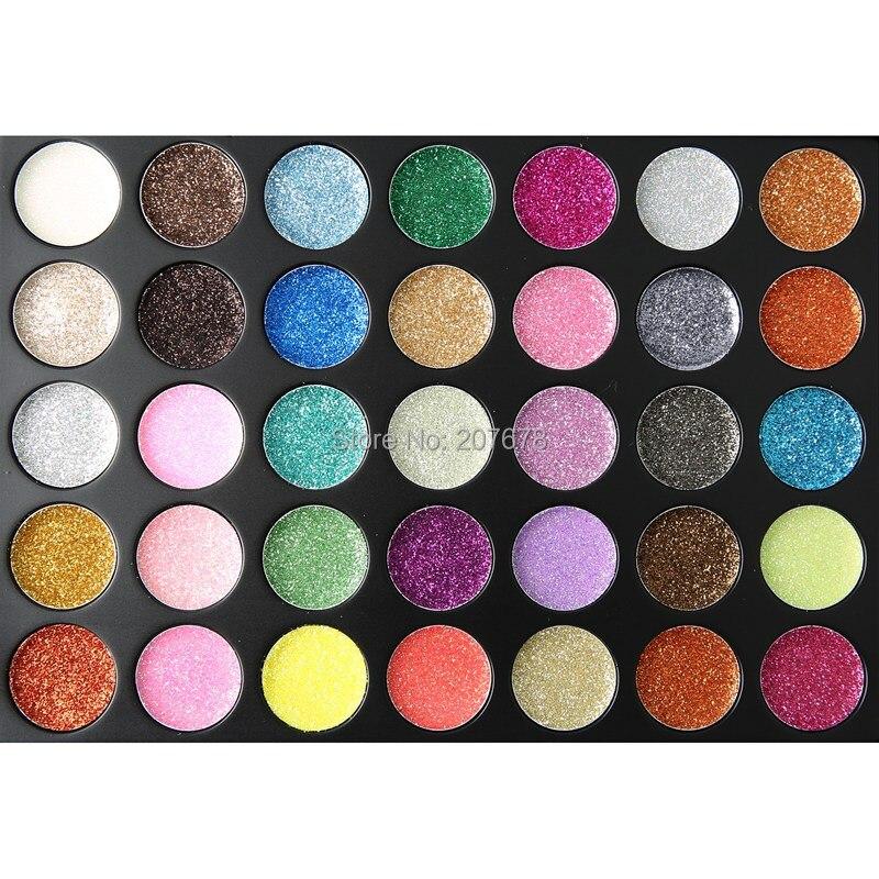 35 Color Eyeshadow Palette Cream Diamond Foiled Glitter Powder Palette Silky Make Up Pallete Shine Cosmetics Lasting Eye Shadow