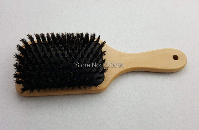 Wooden Hair Brush Boar Bristle Mix Nylon Hair Brush Paddle Hair Brush Hair Extension Brush GIC-HB571 (1 piece) Free Shipping