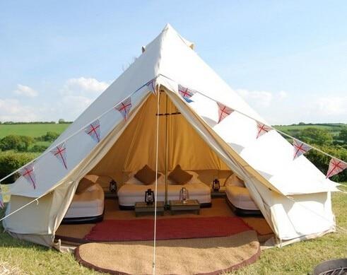 FRETE GRÁTIS! 6 M sino tenda de lona de algodão, barraca de acampamento, barraca grande, barraca da família