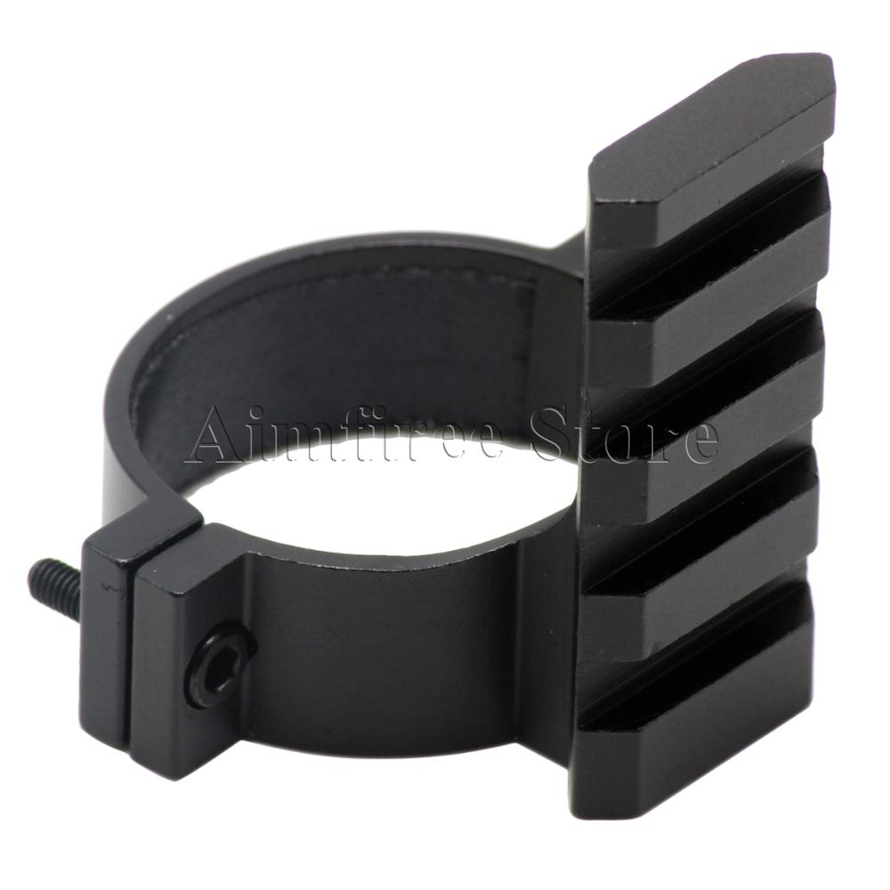 Tactial 35mm Scope Ring Barrel Flashlight Mount Adapter With 20mm Weaver Picatinny Rail For Hunting