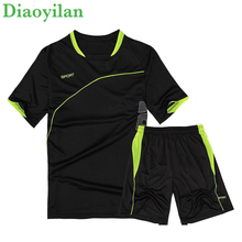 Men Running Suit Short Sleeve+Shorts Basketball Training Tracksuit Quick Dry Loose T-shirt Sports Gym Fitness Exercise Clothing