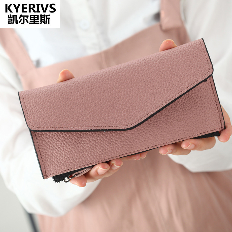 2017 Womens Wallets and Purses Multifunctional PU Leather Wallet Women Slim Wallet Casual Coin Purse Zipper Clutch Purse Female