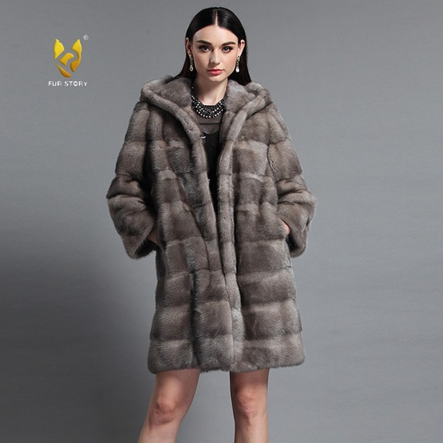 Aliexpress.com : Buy Fur Story 161161 Women Full Pelt Real Mink ...