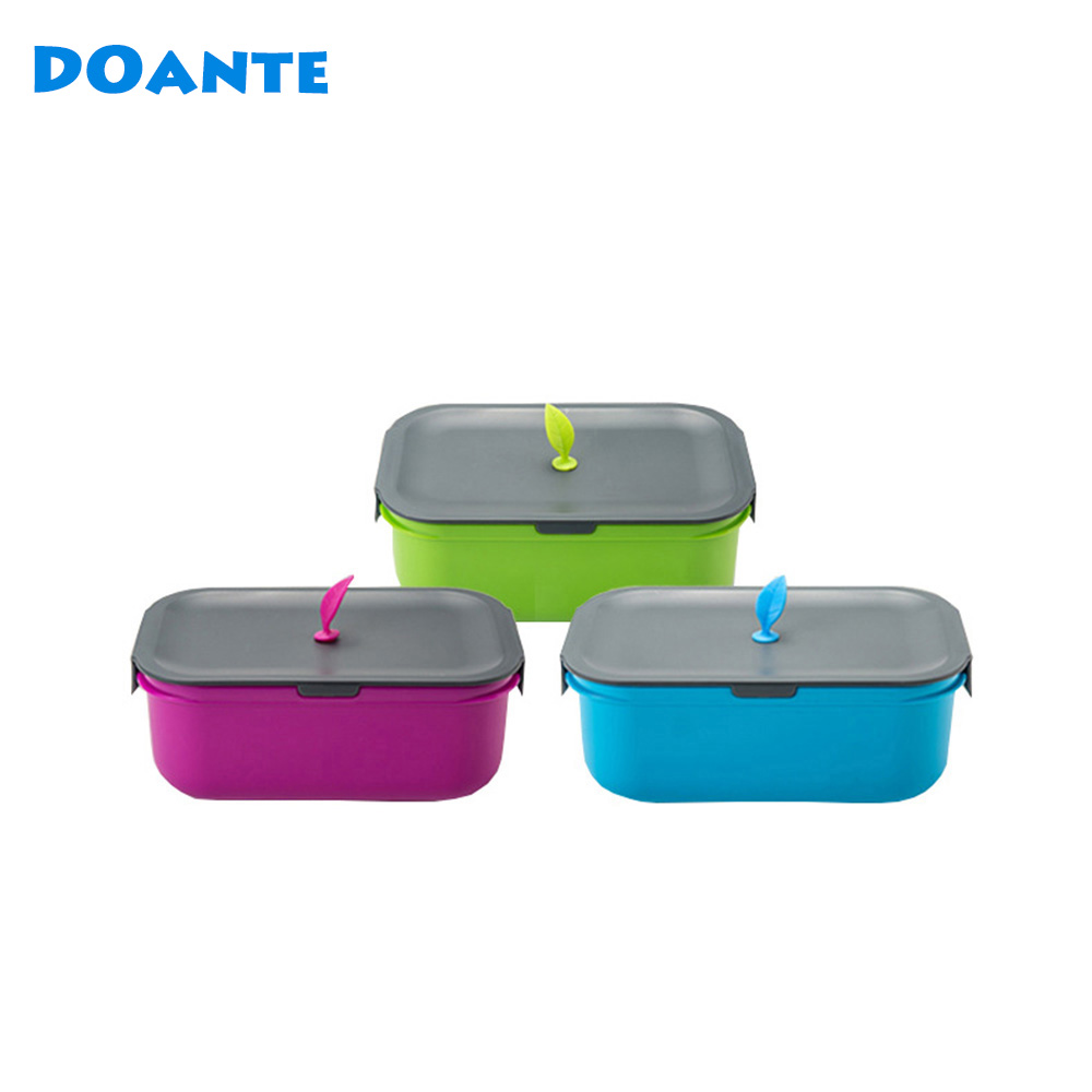 Doante Brand New Arrival Japan Style Plastic Lunch Box Microwave Bento Box  Top Quality Dinnerware Set