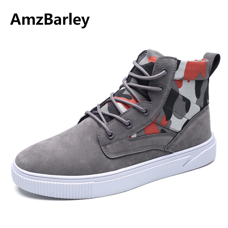 AmzBarley Men Shoes Flats Shoe Footwear Canvas Camouflage Lace Up High Top Casual Trainers Hip Hop Zapatillas Deportivas Hombre fonirra new fashion high top casual shoes for men ankle boots pu leather lace up breathable hip hop shoes large size 45 728