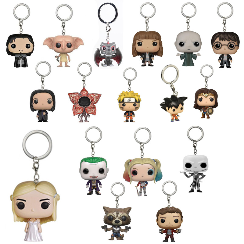 Game of Thrones Keychain Targaryen Suicide Squad Harley Quinn Joker Key Rings Dragon Ball Z Action Figure Vegeta Spider man Key all characters tracer reaper widowmaker action figure ow game keychain pendant key accessories ltx1