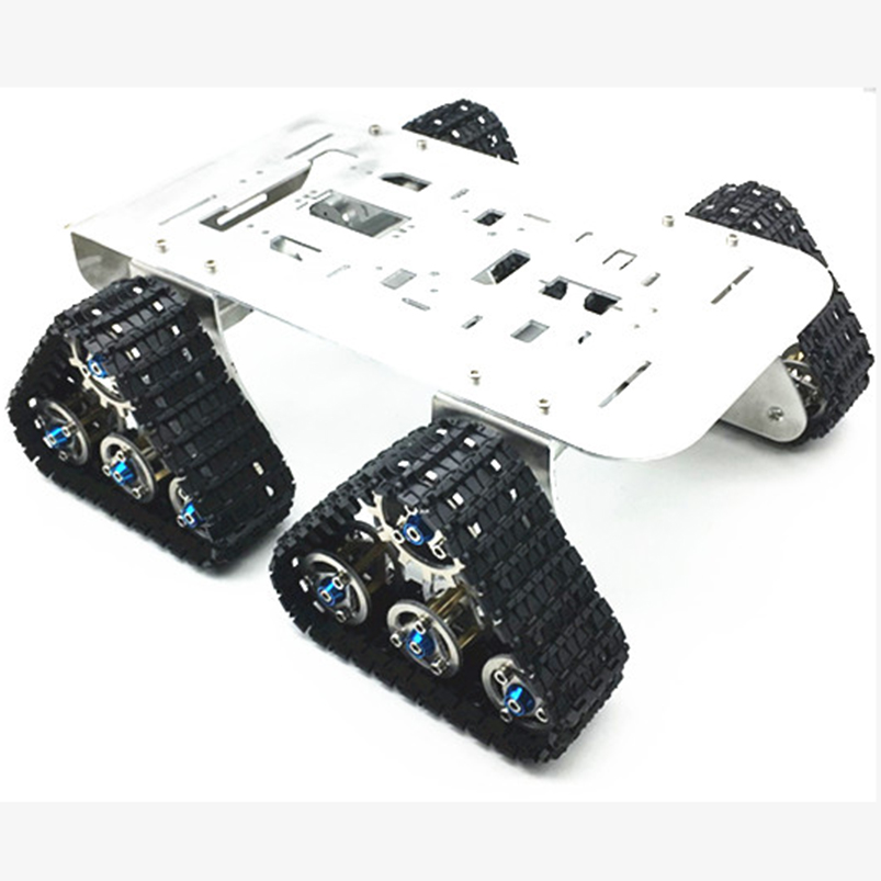 Robotic Chassis Smart Crawler 4WD Metal Tank  For Mini RC Robot Model Toy Vehicles Spare Parts ontology based crawler
