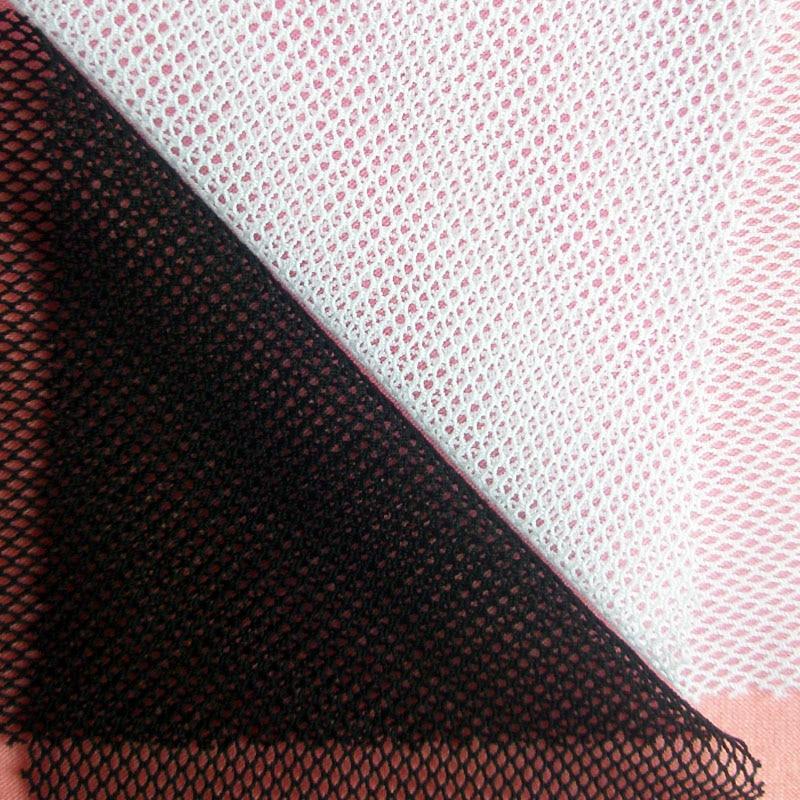 2019 Nejnovější francouzské bílé černé Stretch Mesh Fabric Spandex Reproduktor Textil Spodní prádlo Oděv Šití síťovina Tissu pro ženy Sukně