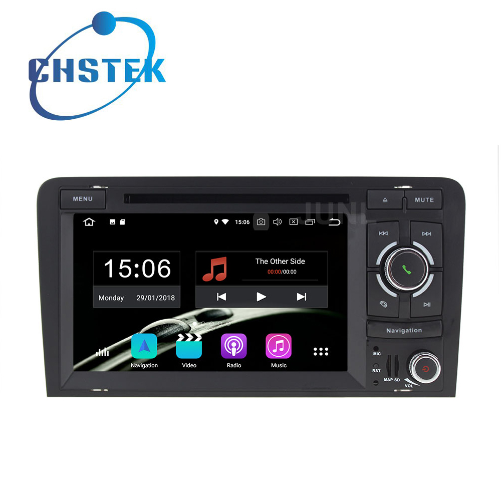 Octa core 4GB RAM Android 8.0 Car DVD Player Multimedia Radio GPS for Audi A3 2003-2011 S3 RS3 with WiFi BT stereo
