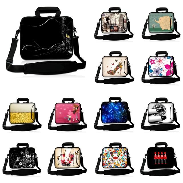 "Laptops Messenger School Bag Unisex Laptop Accessories 16"" 17"" Universal 16.8"" 17.3"" Neoprene Briefcase Shoulder Notebook Bags"