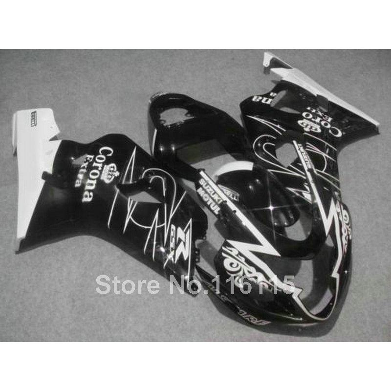 Hot sale fairing kit for SUZUKI GSXR 600 750 K4 2004 2005 white black Corona  GSXR600 GSXR750 04 05 fairings LX86