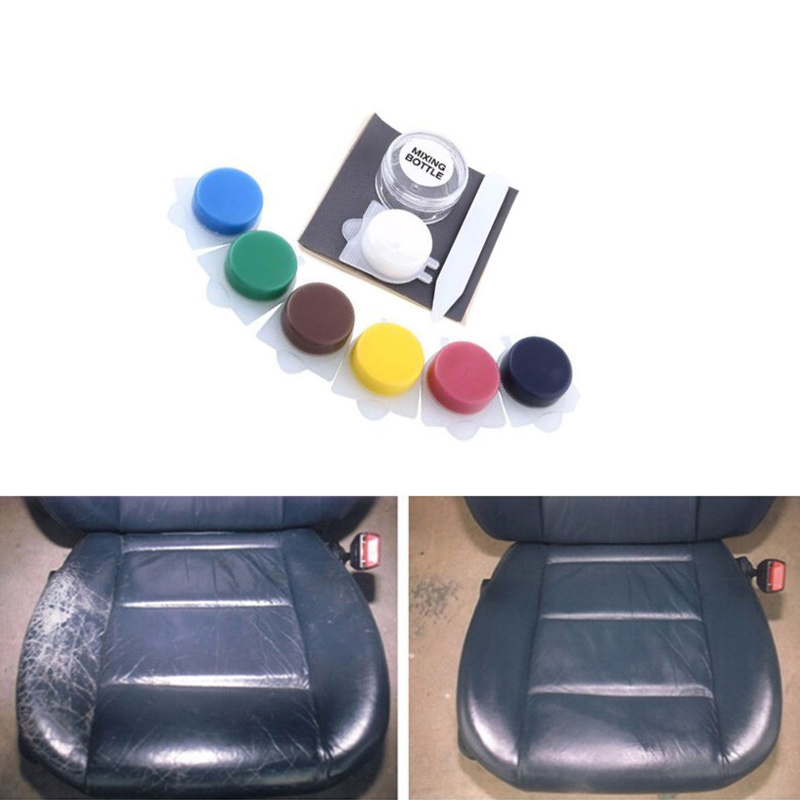 Auto Car Seat Sofa Rip No Heat Liquid Leather Vinyl Repair Kit Paint Care Tool