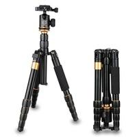 QZSD Q278 Professional Ball Head For Canon Nikon DSLR Camera Lightweight Compact Tripod Monopod Portable Camera Stand Tripe