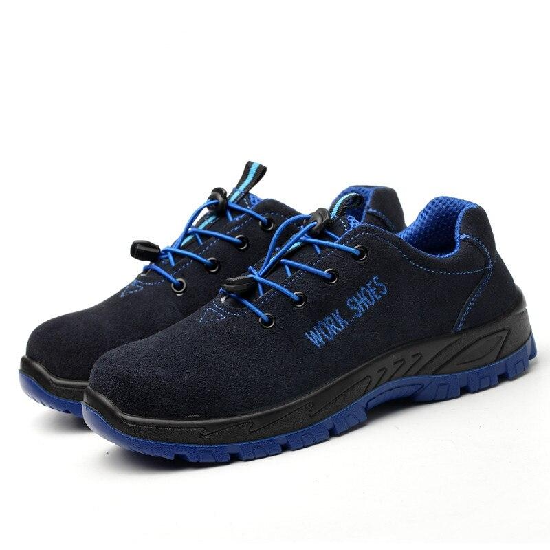 Homens de Trabalho de Proteção de Segurança Do Trabalho Sapatos Anti-esmagamento AC13018 Malha Respirável Confortável Sola de Borracha de Camurça 2019 Acecare