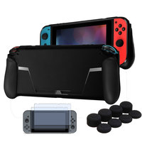 TPU Case Game Card Slot Handle And Soft Cover For Nintendo Switch Console 2 X Glass