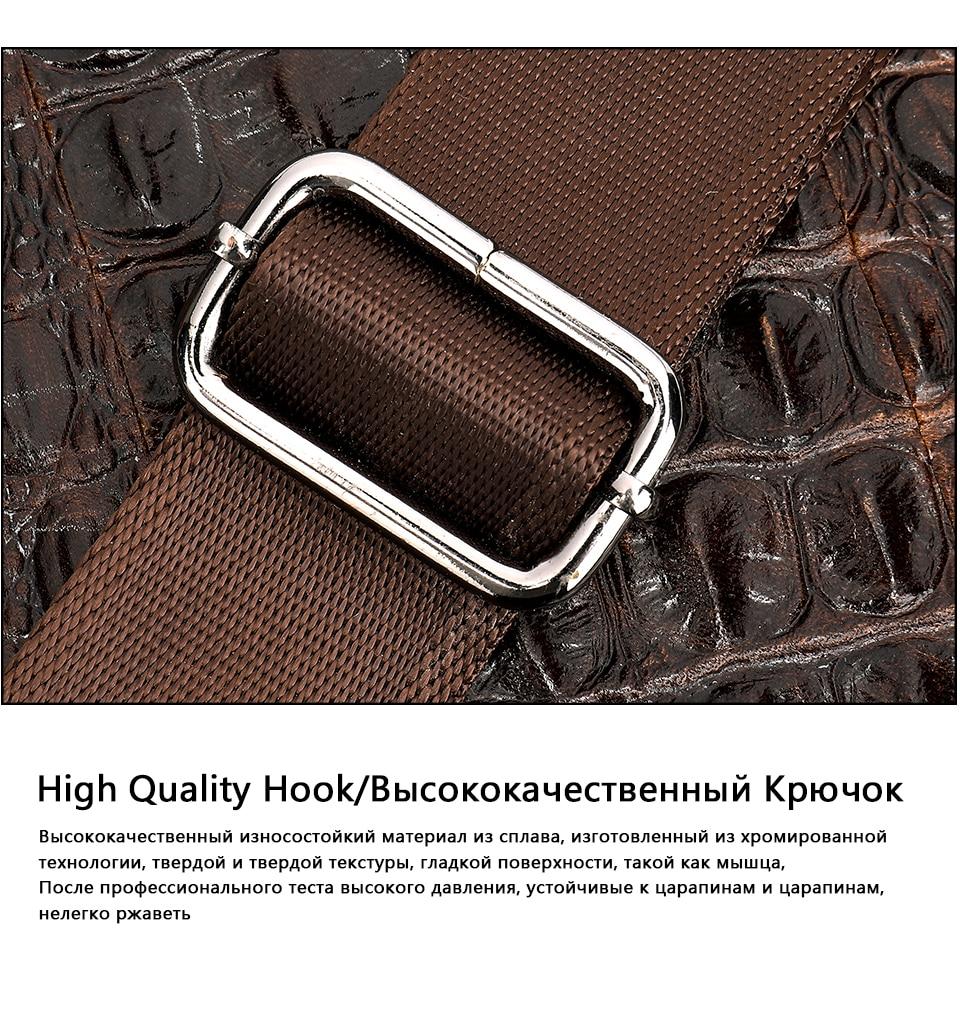 HTB1Mz6oXlSD3KVjSZFqq6A4bpXaX MVA Male briefcase/Bag men's genuine leather bag for men leather laptop bags office bags for men Crocodile Pattern handbag 5555