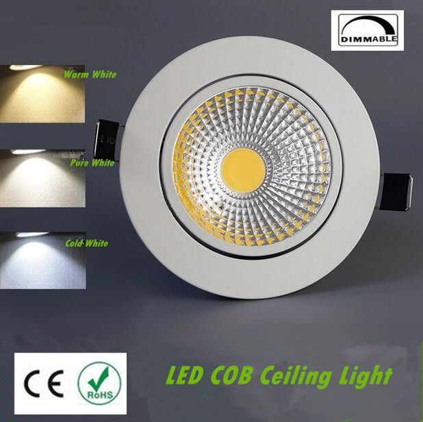 2019 New Style Dimmable Led Downlight Light Cob Ceiling Spot Light 7w 10w 85-265v Ceiling Recessed Lights Indoor Lighting White Black Silver Lights & Lighting Ceiling Lights