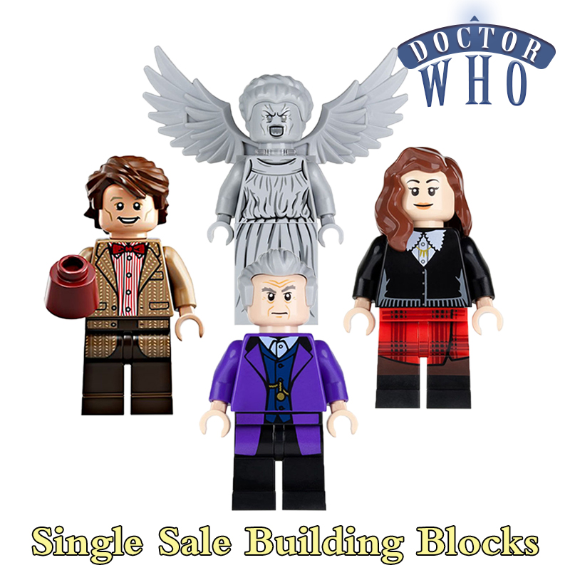 Educational Blocks Doctor Who The Weeping Angels Clara Oswald Action Figures Building Bricks Kids DIY Toys Hobbies Gift PG8038 building blocks pg966 the twelfth doctor idea021 doctor who set 21304 super hero action bricks kids diy educational toys hobbies