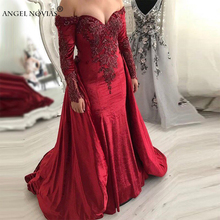 Angel Novias Long Sleeve Mermaid Evening Dress 2018