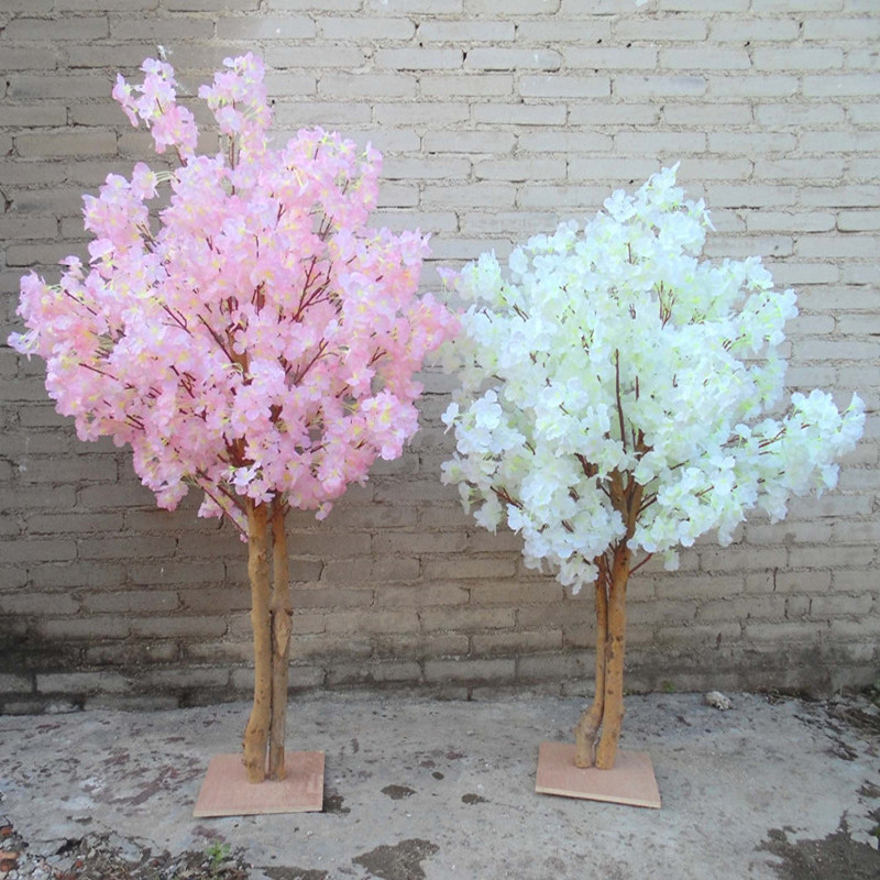 Nuevas flores de cerezo artificiales simulación de árbol melocotón falso que desea árboles para la decoración del hogar y decoraciones de centros de mesa de boda - 3