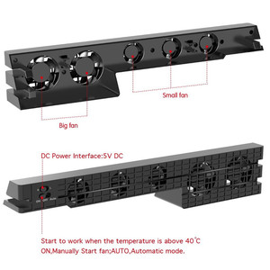 Image 3 - DOBE PS4 프로 냉각 팬 외부 5 쿨러 팬 슈퍼 터보 온도 냉각 USB 케이블 플레이 스테이션 4 프로 게임 콘솔