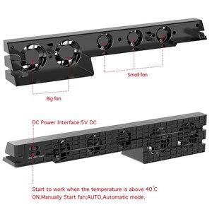 Image 3 - DOBE PS4 برو مروحة التبريد الخارجية 5 برودة مروحة سوبر توربو درجة الحرارة التبريد USB كابل ل بلاي ستيشن 4 برو الألعاب وحدة التحكم